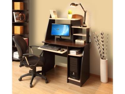 Компьютерный стол Интел 17 Венге Магия-Дуб Молочный