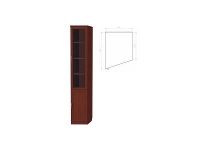 Шкаф для книг консоль левая артикул 201 итальянский орех
