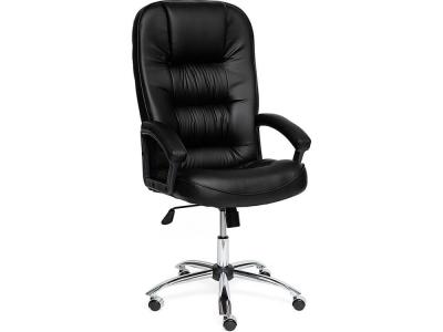Кресло СH9944 хром + кож.зам Чёрный (36-6)