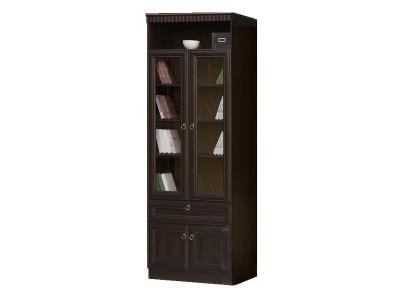 Шкаф для книг 611 Инна Денвер темный 800х368х2248 полки - ДСП