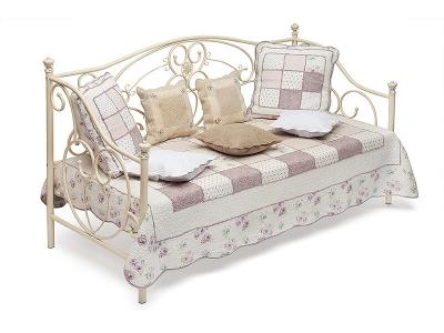 Кровать металлическая Jane Day Bed Античный Белый