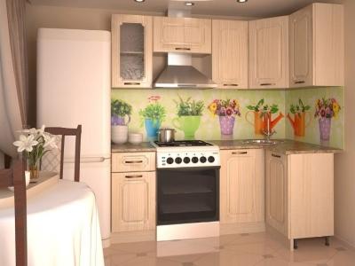 Кухонный гарнитур угловой Грецкий орех 2000х1100