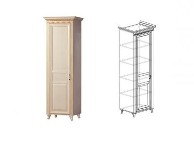 Шкаф для одежды 1-дверь Марлен 472 642х2216х532 мм
