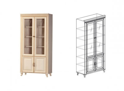 Шкаф для книг Марлен 476 1023х2146х435