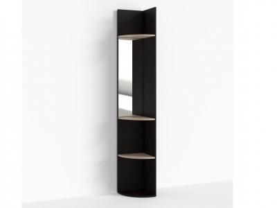 Стеллаж радиусный с зеркалом Крокус ПР-ШС-1-7 330х330х2100 Дуб Миланский
