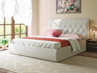 Интерьерная кровать Тиффани 3011 белая