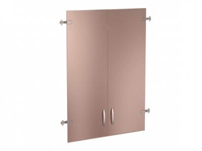 Двери стеклянные тонированные 3 секции 61.38т Альфа 750х1170