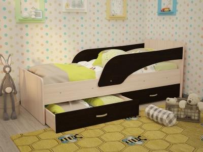 Кровать детская Кроха дуб-венге