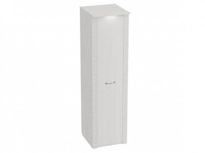 Шкаф 1-дверный Элана с подсветкой 590х645х2185 Бодега белая