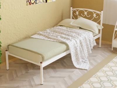 Кровать металлическая Ева белая