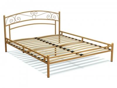 Кровать 160 Адель металлическая Крем
