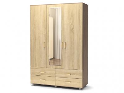 Шкаф Максим 3-4 с зеркалом Винтаж - Дуб сонома