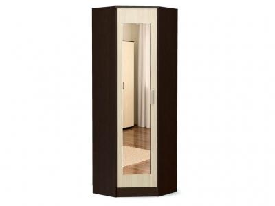 Шкаф угловой-2 Модуль с зеркалом Венге - Дуб млечный