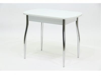 Стол со стеклом Гала 5 белый белый