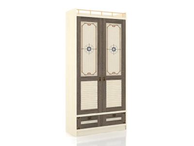 Шкаф двухдверный Калипсо ЛД.509010.000 918х1984х447 Сономе эйч темная