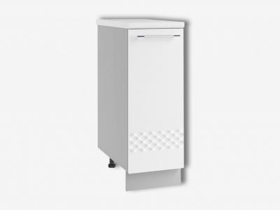 Шкаф нижний 300мм стол рабочий левый С 850х300мм МДФ белый Капля