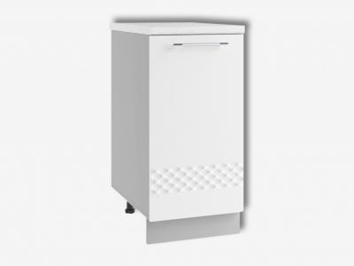 Шкаф нижний 400мм стол рабочий левый С 850х400мм МДФ белый Капля