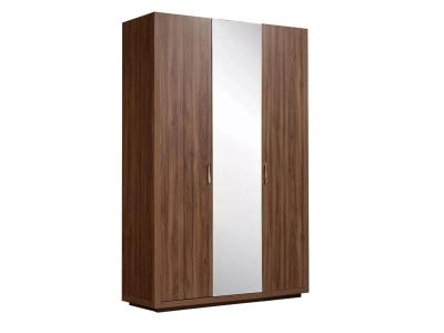 Шкаф 3-х дверный с зеркалом для платья и белья ЧШ1/3 Челси Орех Каннеро