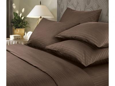 Комплект постельного белья Verossa Stripe Семейный Mokko