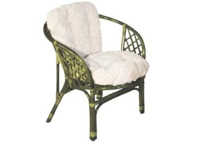 Кресло Багама олива со светлой подушкой
