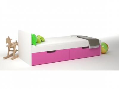 Кровать 2 ящика Брусника Фуксия