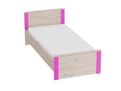 Кровать Скаут 960х2055х795 без основания Матовый фуксия