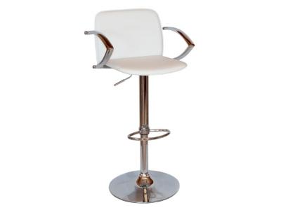 Барный стул Лого LM-3019 белый со спинкой и подлокотниками