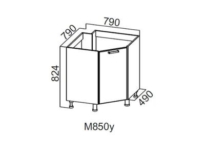 Кухня Геометрия Стол-рабочий угловой 850 под мойку М850у 824х790х790мм