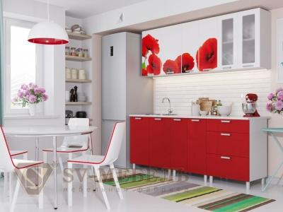 Кухня Модерн фотопечать маки