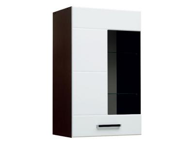 Шкаф навесной со стеклом модуль-2 Грация левый