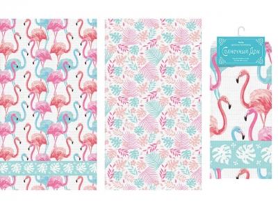 Набор полотенец Солнечный Дом Фламинго (арт. 7171701)