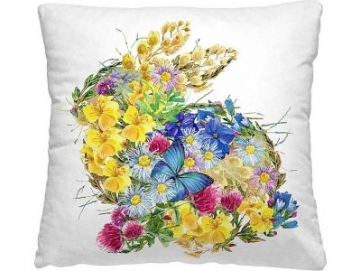 Подушка-думка 40/40 Цветочный заяц