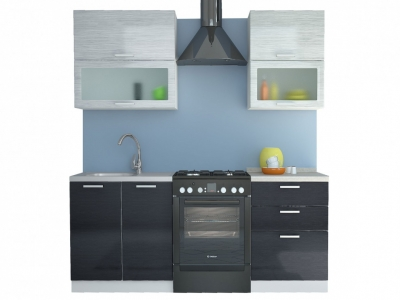 Кухня Равенна Стайл 1,4 м титан белый/титан черный