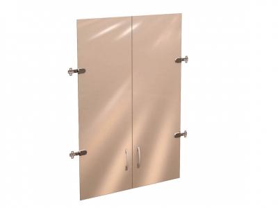 Двери стеклянные 3 секции 42.38 Рубин 700х1110