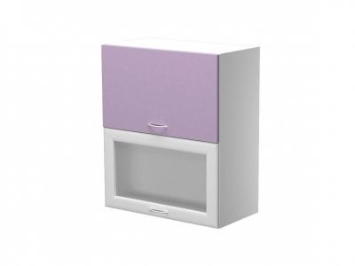 Шкаф навесной с 2 подъёмными дверцами со стеклом ШН.60.33ВГ 600х300х720