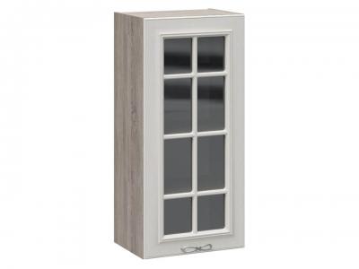 Шкаф навесной cо стеклом В_96-45_1ДРс Сабрина