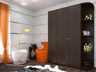 Шкаф Оксана с угловым элементом венге