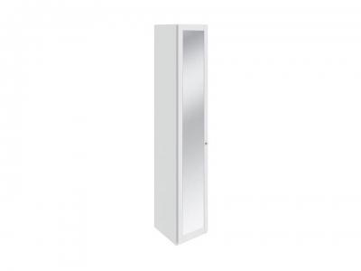 Шкаф торцевой с 1 дверью с зеркалом Ривьера СМ 241.07.004 Белый