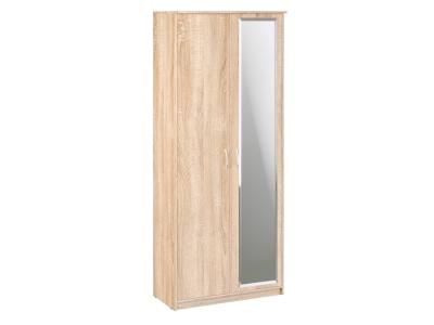 Шкаф 2-х створчатый Дуэт Люкс 960х450х2300 с зеркалом Дуб Сонома светлый