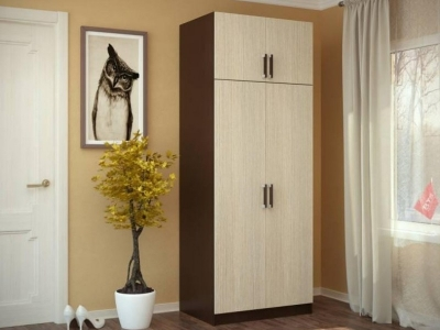 Шкаф 2-х створчатый с перегородкой венге/лоредо