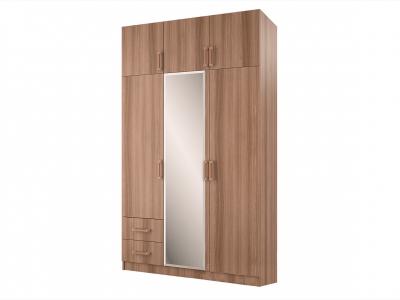 Шкаф 3-х створчатый с перегородкой ясень шимо