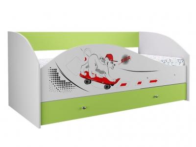 Кровать на щитах Симба лайм