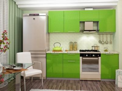 Кухня Олива 2100 Металик Салатовый
