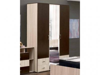 Шкаф 3-х дверный с 4-мя ящиками и зеркалом Венеция 10