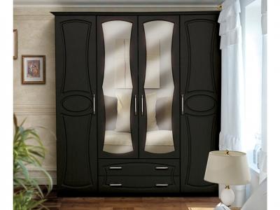 Шкаф 4-х дверный с 2-мя ящиками и 2-мя зеркалами Венеция 2