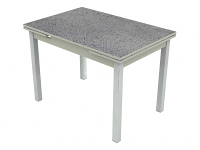 Стол раздвижной Шанхай Марсианская капля/серый опоры хром