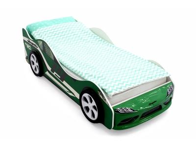 Кровать-машина Супра зеленая