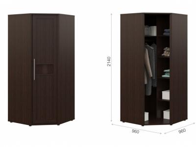 Угловой шкаф Токио без зеркала Венге