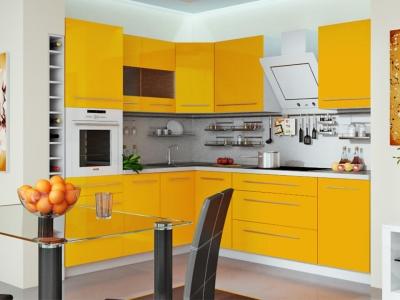 Угловая кухня Ассорти Лимон